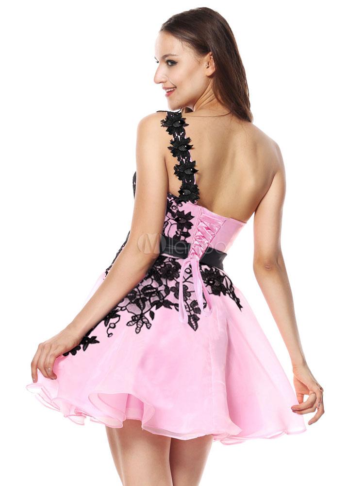 680362a01eb8 ... Abiti da sera corti Vestito da laurea rosa tenui Abito da cerimonia  nuziale con strass in