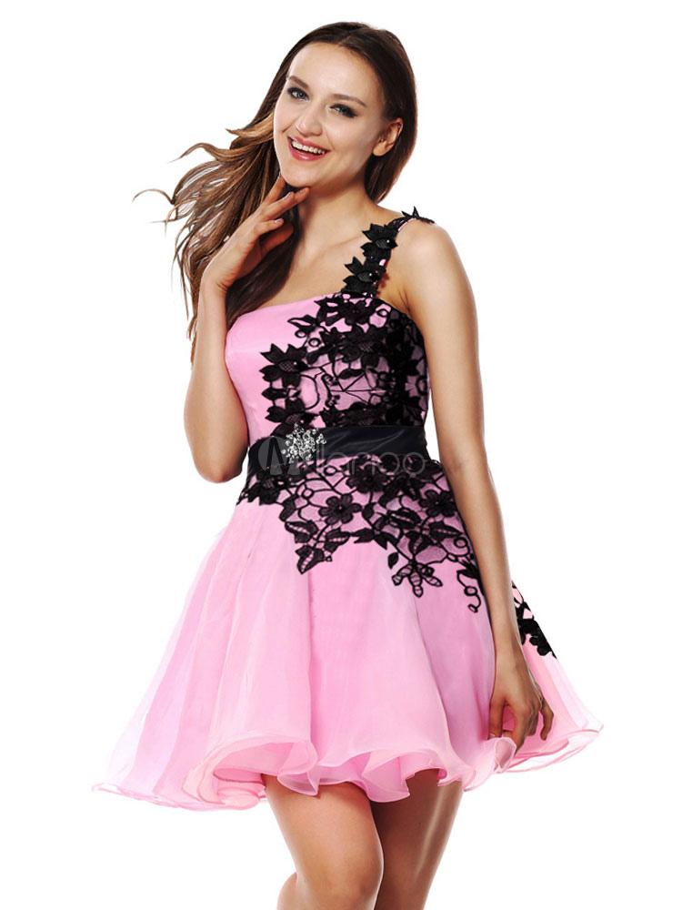 5d881f71c115 ... Abiti da sera corti Vestito da laurea rosa tenui Abito da cerimonia  nuziale con strass in ...
