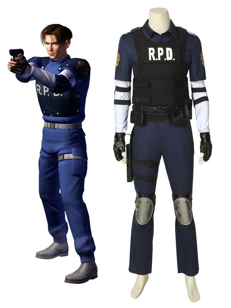 Resident Evil 2 Leon Scott Kennedy Halloween Cosplay Costume