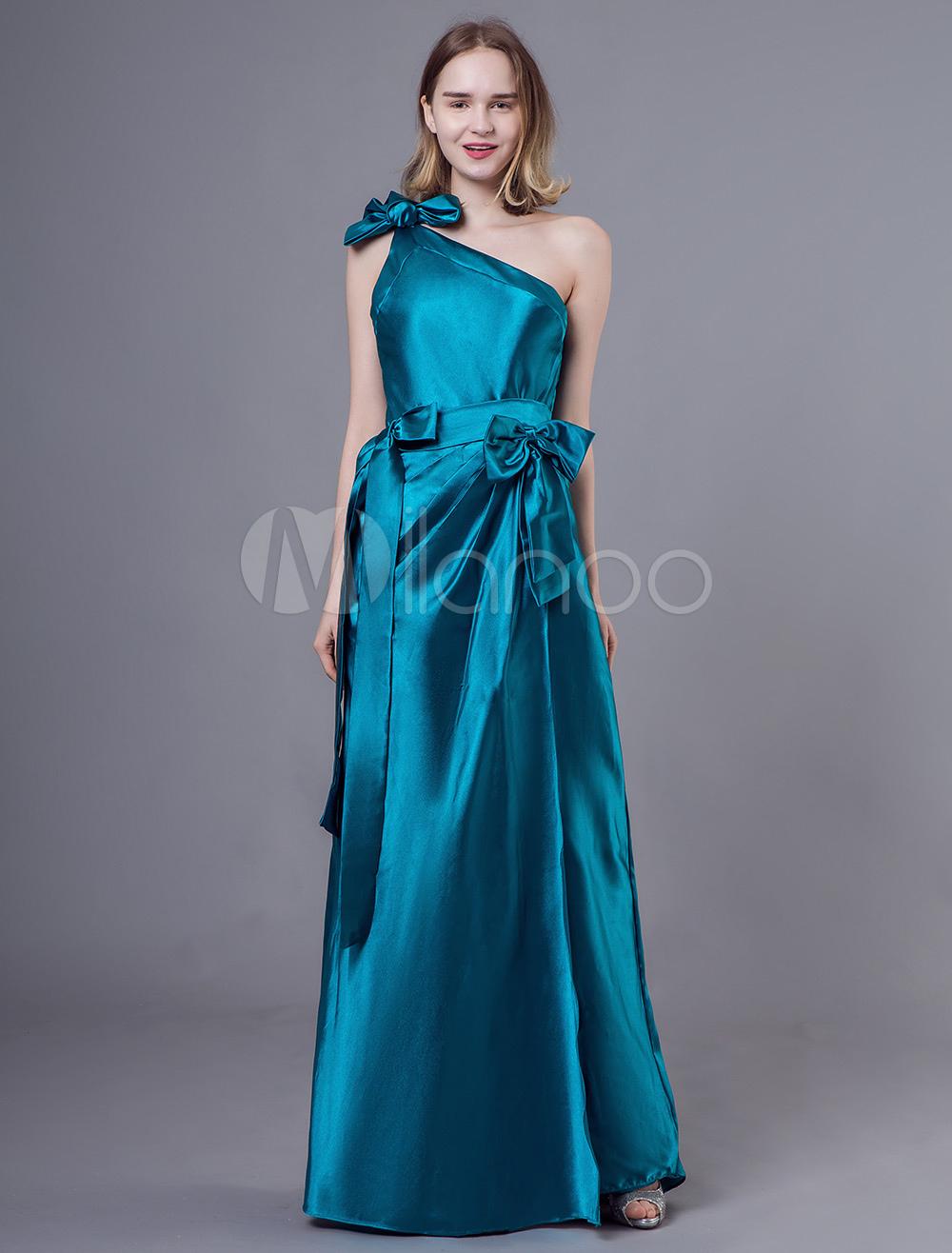 5500dd5ff7e Вечерние платья одно плечо чирок банты плиссированные вечернее платье-No.1  ...