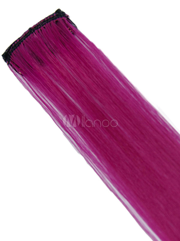 d4365823d ... Color Hair Piece Hair Extension Strip Wig Piece Halloween Party Cosplay  Wig-No.6 ...