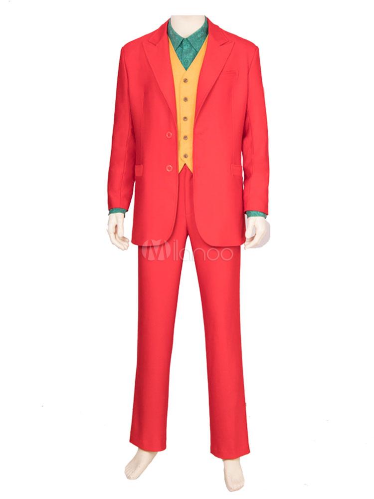 Dc Comics косплей джокер 2019 фильм атласная ткань красный 4 шт косплей костюм хэллоуин