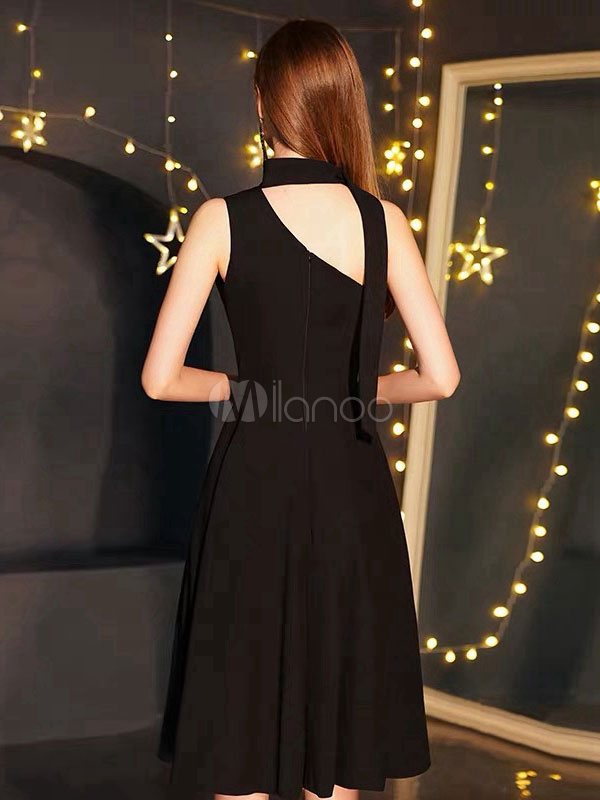 ffae28c91fe ... Little Black Dresses One Shoulder Wedding Guest Dress Short Cocktail  Party Dress-No.4 ...