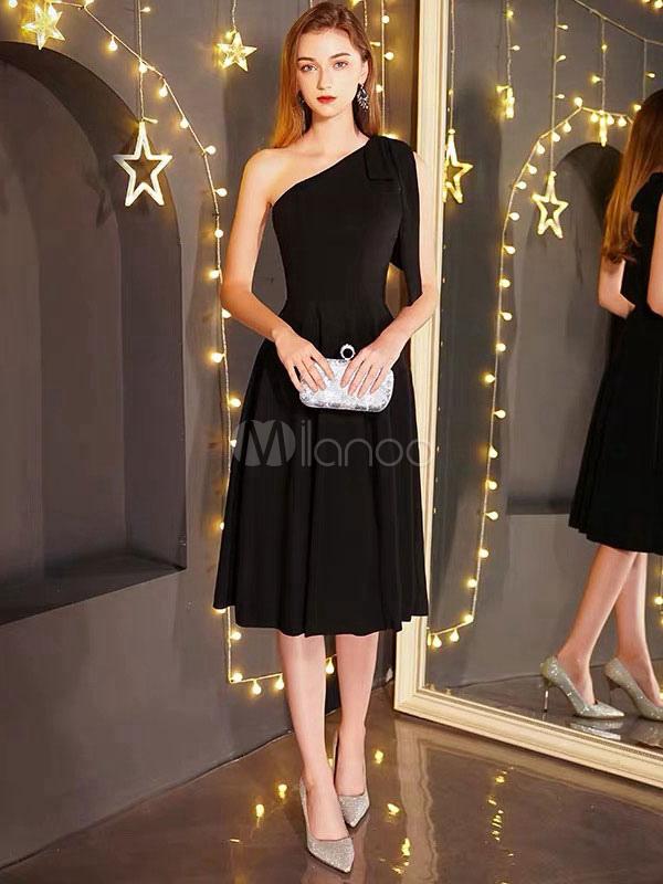 9618ef259c4 Little Black Dresses One Shoulder Wedding Guest Dress Short Cocktail Party  Dress-No.1 ...