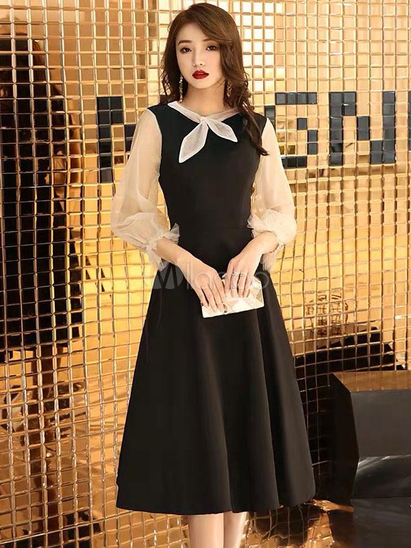 Cocktail Dress Knee Length 2019 Wedding Guest Dress Little Black Dress