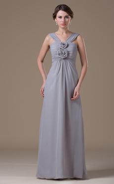 Chiffon Halter Floor Length Maternity Bridesmaid Dress