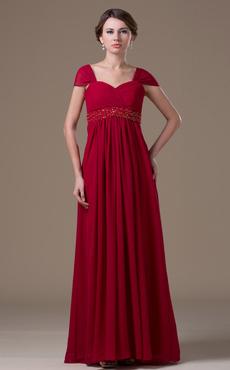 Blue Fashion Chiffon Floor-length Maternity Bridesmaid Dress