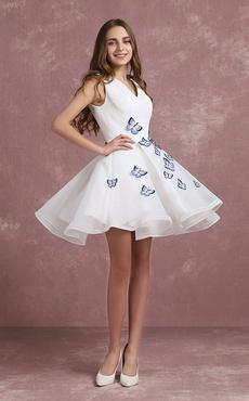 cda40398b3 Vestidos blancos cortos - Milanoo.com