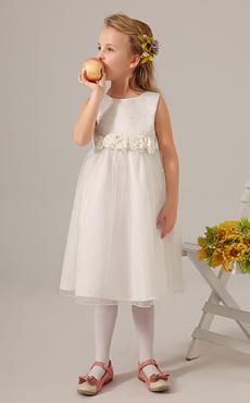 8e33f0cfe167 Gioiello avorio collo fiore Tulle carino Flower Girl Dress. Anteprima Lista  dei desideri