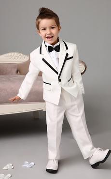 Garçon Costume De Mariage Tuxedo Veste Pantalon Chemises Bow Tie Ivoire  Enfants Vêtements Formelle 4 Pcs 71218a1ae00