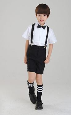 Two-Tone Boy's Suit Bow Tie Polyester Children's Suit