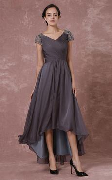 Kleid chiffon vorne kurz hinten lang