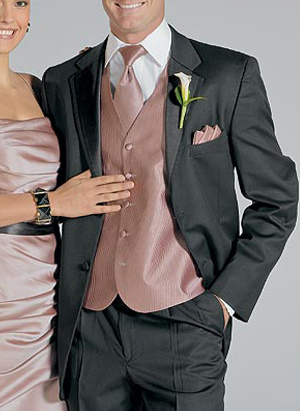 Black Single Breasted Button Lapel Worsted Groom Tuxedo