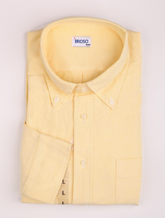 Comfortable Yellow 100% Cotton Mens Shirt