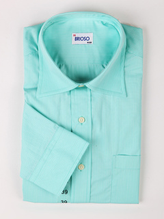 Casual Green 100% Cotton Mens Shirt