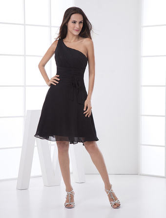 a9d72526457 One-Shoulder Ruched Cocktail Dress Wedding Guest Dress. Quick View Wishlist