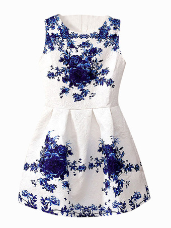 Sweet Floral Print Fit & Flare Dress
