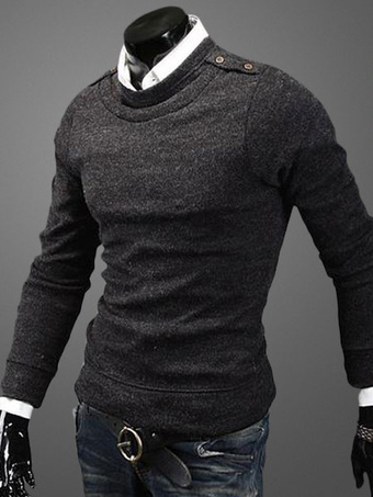 Shaping Pullover Knitwear With Crewneck