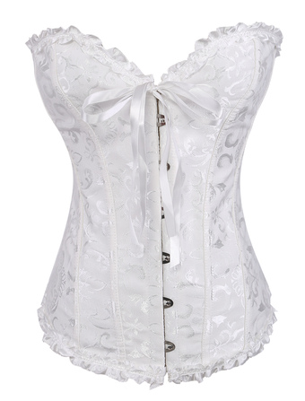 Sexy Ruched Jacquard Bustier