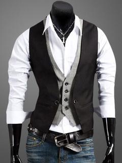 Men's Cotton Shirt And Waistcoat