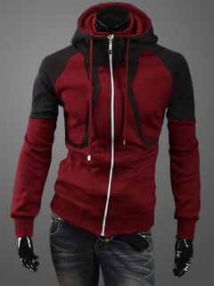 Hooded Jacket With Fake 2-Piece