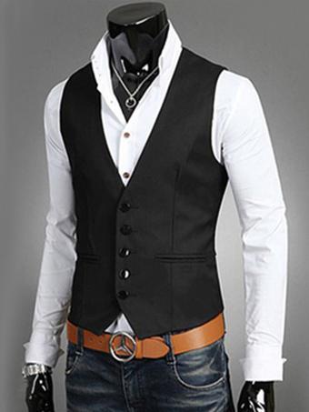 Color Block Cotton Men's Blazer