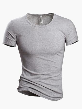 8c48f265c7d T-shirt hommes 2019 décontracté col V en coton T Haut à manches courtes T
