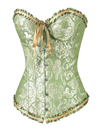 0d4680719d5 Women Overbust Corsets 2019 Green Lace Up Waist Trainer