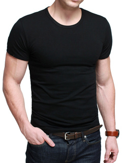 Short Sleeves Crewneck Solid Color High Quality Cotton Mens Tee Shirt