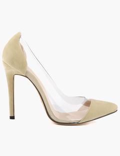 f55024b826 Women High Heels Suede Pointed Toe Slip On Pumps Rose Stiletto Heel Dress  Shoes