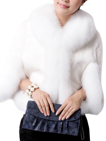 Fur Leather Feminine Poncho