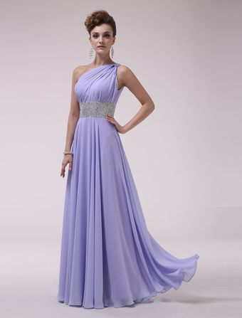 One-Shoulder Bridesmaid Dress With Beaded