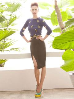 Elegant Women's Chic Wrap Skirt