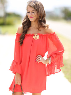 Bateau Pleated Oversized Summer Dress