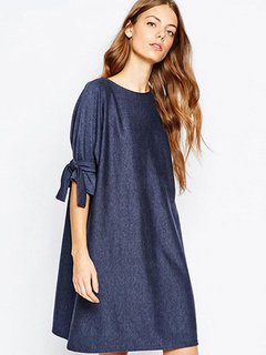 Loose Shift Dress Half Sleeve Plus Size Dress