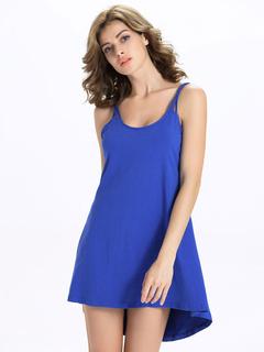 Summer Dress Sleeveless Backless Roman Knit Straps Shift Dress