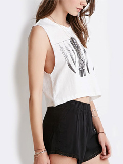 Graphic Chic Crop Top