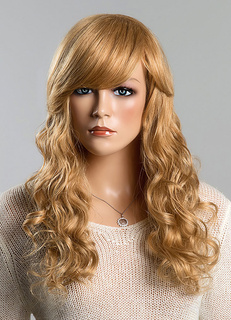 Long Wigs Blonde Human Hair Wave Women's Curly Real Hair Wigs