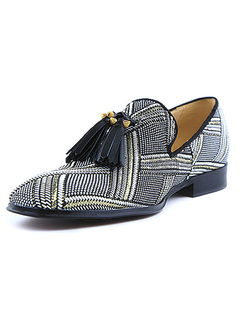 Men Dress Shoes 2019 Grey Loafers Square Toe Slip On Shoes With Tassels c0542cab832b