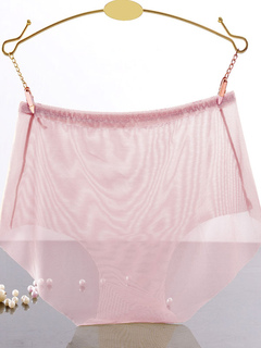 Women's Nude Panties Tulle Sheer Brief Underwear Lingerie
