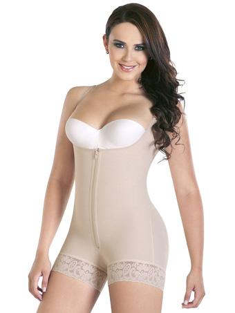 Women's Waist Shaper Underbust Sleeveless Ruffled Shaping Bodysuit