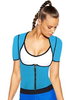 Best Body Shaper Women's Blue Reversible Short Sleeve Waist Hsa With Zipper