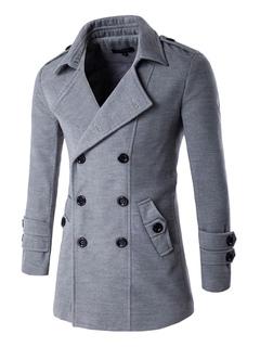 f79e569d1 Abrigo de hombre 2019 de algodón de cuello vuelto estilo moderno