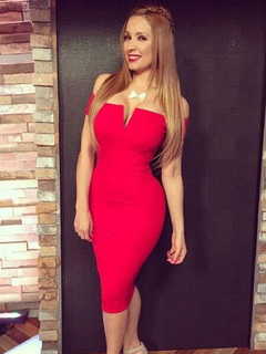 Red Party Dress Sexy Off The Shoulder Short Sleeve Spandex Bodycon Dress
