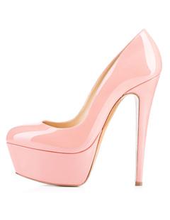 d2402c09a36 Platform High Heels 2019 Women Sexy Shoes Round Toe Slip On Pumps