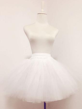 b42284df87a8c Sweet Lolita Petticoat White Tulle Boneless Tiered Short Lolita Underskirt
