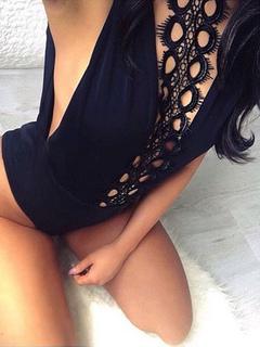 Sexy Black Bodysuit Halter Sleeveless Women's Hollow Out Slim Fit Bodysuit