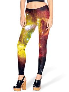 Women's Printed Leggings Sky Pattern Skinny Christmas Legging