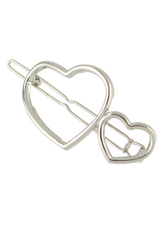 Silver Hair Clip Sweetheart Alloy Hairpin Women Hair Accessories