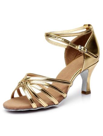 Salón de baile de Satén zapatos Open Toe tacón corte correa de tobillo zapatos de baile de modificado para requisitos particulares swV0setq